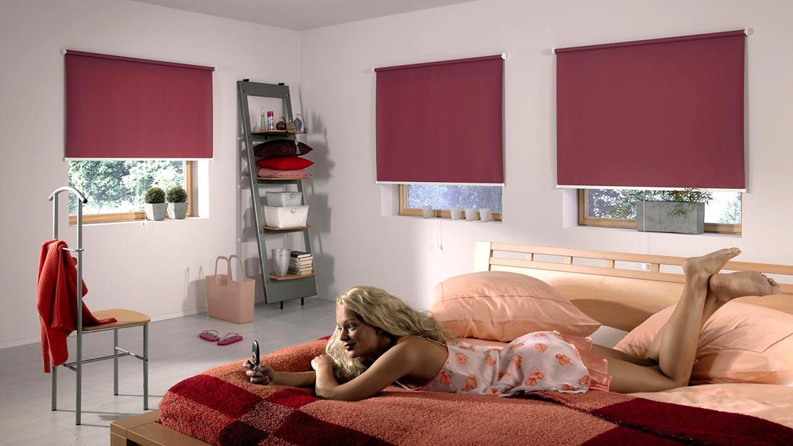 rollos zur verdunkelung und f r den sichtschutz. Black Bedroom Furniture Sets. Home Design Ideas